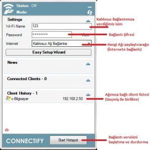 connectify-kullanimi