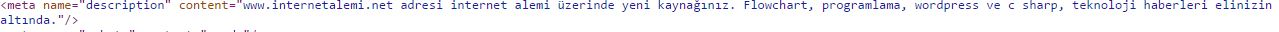 meta description açıklama kodları
