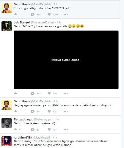 sabri gol attı twitter yıkıldı