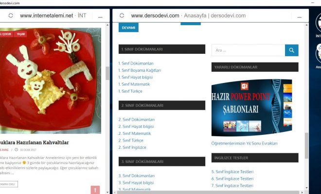 Opera Neon bir sayfada iki site gezmek