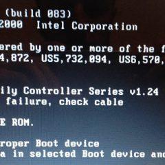 Media Test Failure Check Cable Hatası