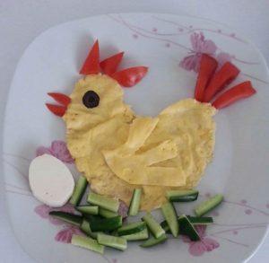 Çocuklara Kahvaltılar Etkinlikleri Tavuk Konulu Kahvaltı