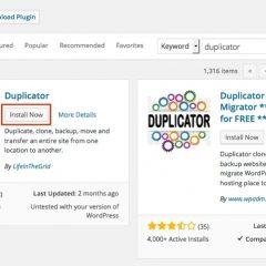 WordPress siteleri kopyalama , taşıma ve yedekleme Duplicator