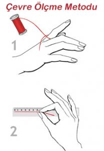 Yüzük için parmak çevresini ölçme