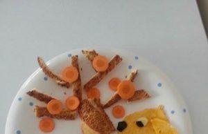 Eğlenceli kahvaltı tabakları