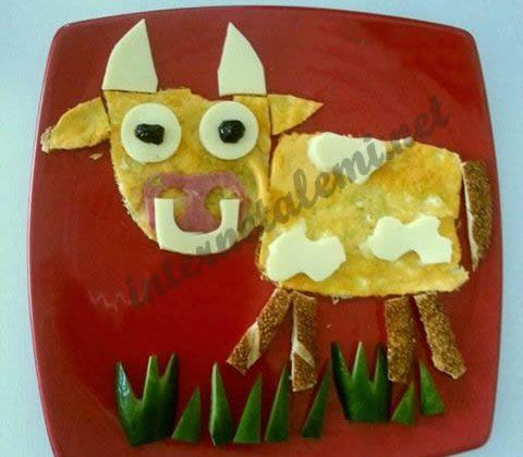 Çocuklara Kahvaltılar Etkinlikleri || İnek Figürlü Kahvaltı