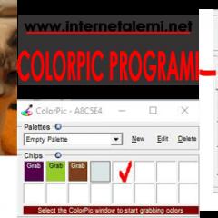 Kendisi Küçük İşi Büyük Program – ColorPic – En İyi Renk Yakalama Programı